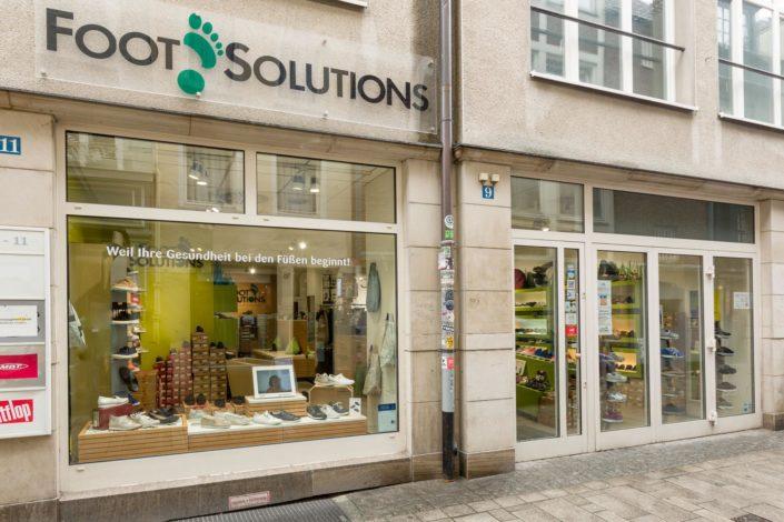 Abbildung von Foot Solutions Laden in Düsseldorf von aussen