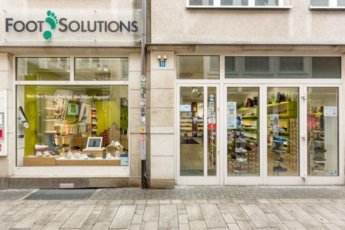 Foot Solutions Laden in Düsseldorf von aussen